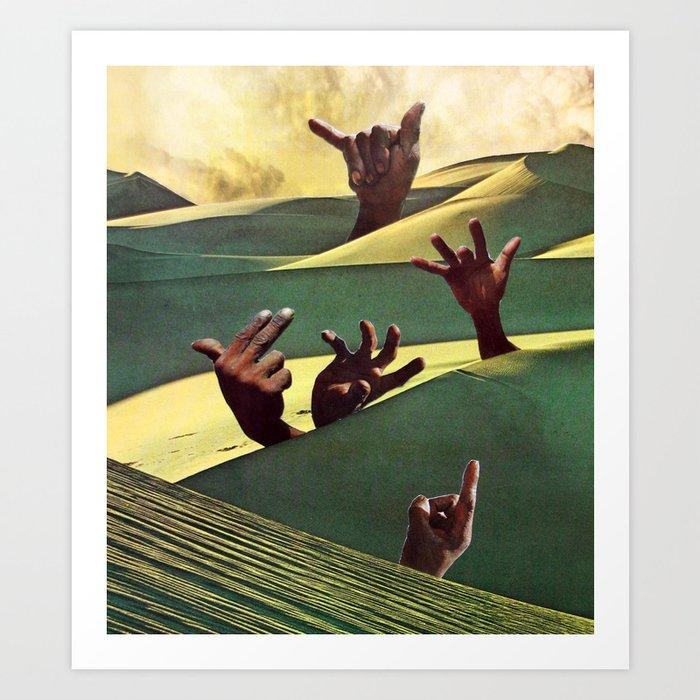 Sign Language II Art Print
