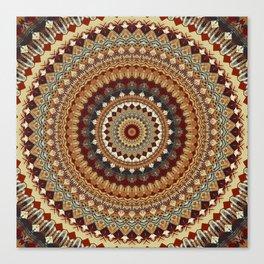 Earthy Mandala Canvas Print