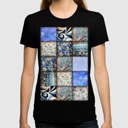 Faux Patchwork Quilting - Blues T-shirt