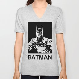 ( Michael Keaton 1989 )  A Costumed Hero by Peter Melonas Unisex V-Neck