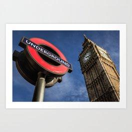 Big Ben & Westminster Underground Station Art Print