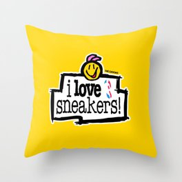 I love sneakers Throw Pillow