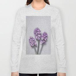 Three Light Purple Hyacinths Long Sleeve T-shirt