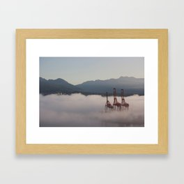 Burrard Inlet Fog Framed Art Print