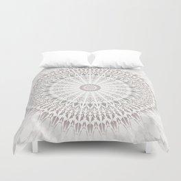 Taupe Mandala Duvet Cover