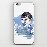 spock iPhone & iPod Skins featuring spock by ElenaTerrin