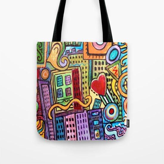Pretty City Tote Bag