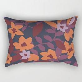 Retro floral print Rectangular Pillow