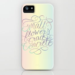 Small Flowers Crack Concrete iPhone Case