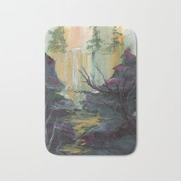 Waterfall Cliffs Bath Mat