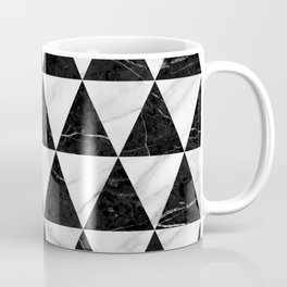 Marble Triangle Pattern - Black and White Coffee Mug