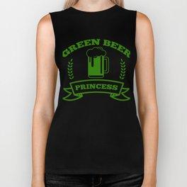 Green Beer Princess St Patricks Day Irish Drinking Biker Tank