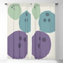 Abstract No.15 Bowling Balls Blackout Curtain