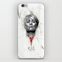 house of cards iPhone & iPod Skins featuring House of Cards - Claire Underwood by teokon