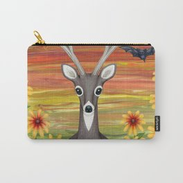 white tailed deer, bats, black eyed susans Carry-All Pouch