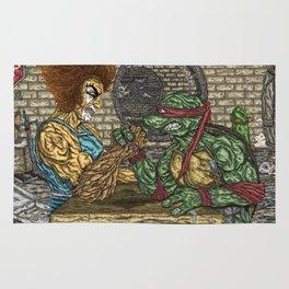 ThunderCats Vs. The Turtles - Lion-O Vs. Raphael Rug