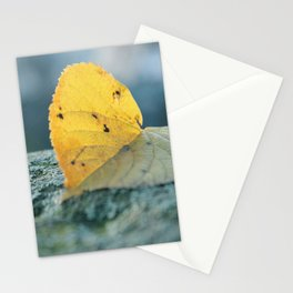 Leaf blues Stationery Cards