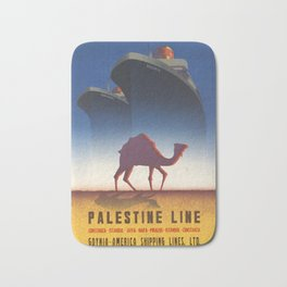 Palestine Line - Vintage Poster Bath Mat