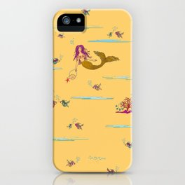 Fashionable mermaid - yellow-orange iPhone Case