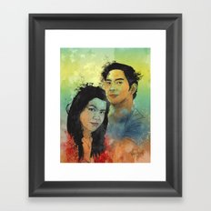 Gidget and Nino Framed Art Print