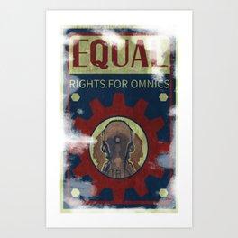 Omnic Rights Art Print