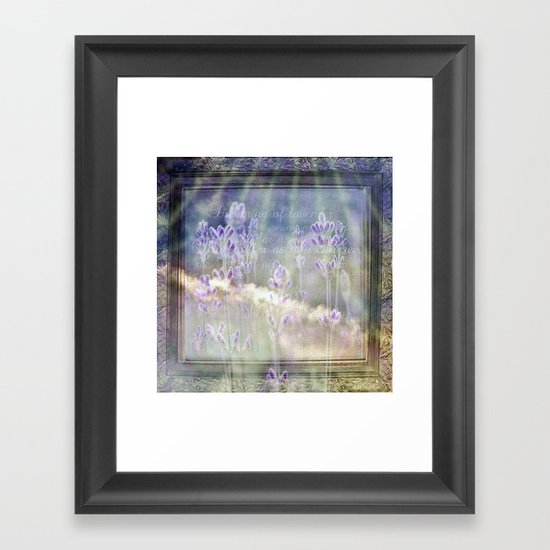 Blue as far as you can see Framed Art Print