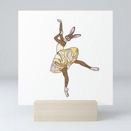 Bunny Rabbit Ballerina Tutu Mini Art Print