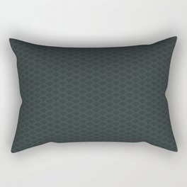 PPG Night Watch Pewter Green Stitch Scallop, Wave Pattern Rectangular Pillow