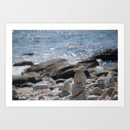 Balancing Serenity Rocks Art Print