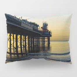 Paignton Pier At Sunrise Pillow Sham