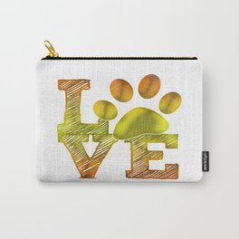 LOVE pawprint Carry-All Pouch