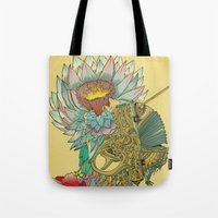 writer Tote Bags featuring The Writer by Theo Szczepanski