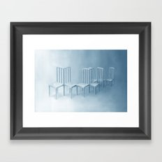 Interconnected Chairs Framed Art Print