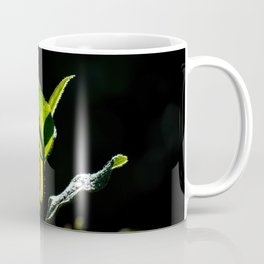 Green on black Coffee Mug