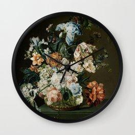 Vintage Flower In A Vase Wall Clock