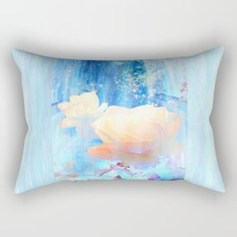 Yellow Roses By The Bridge By Annie Zeno Rectangular Pillow