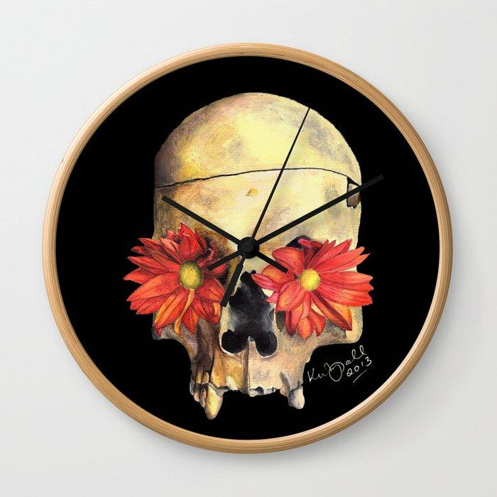 Beauty in Death Wall Clock