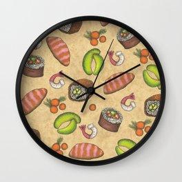 Sushi Design Wall Clock