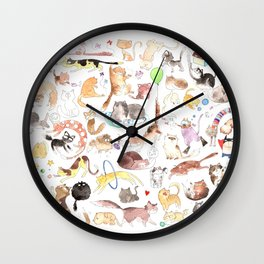 A cat mess Wall Clock