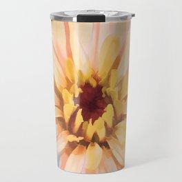 Sunset Zinnia Travel Mug