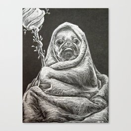 The Wizard of Pugz Canvas Print