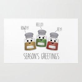 Season's Greetings   Garlic, Oregano & Paprika Rug