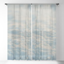above the clouds ... Sheer Curtain