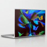 butterflies Laptop & iPad Skins featuring Butterflies by tarrby/Brian Tarr