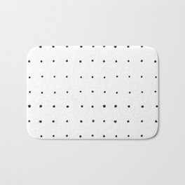 Dot Grid Black and White Bath Mat