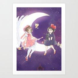 Flying Friends Art Print