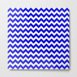 CHEVRON DESIGN (BLUE-WHITE) Metal Print