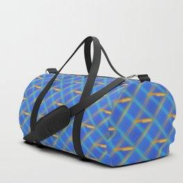 Glow Smear Slant Plaid Duffle Bag