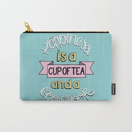 Happiness is Tea and Books Carry-All Pouch