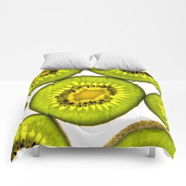 KiwiFruit slices Comforters